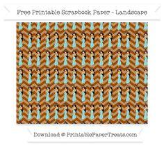 Free Landscape Brown Chevron Large Princess Jasmine Pattern Paper - Aladdin