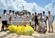 Carnival Cruise Line Employees Participate in International Coastal Cleanup Day