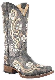 Corral Honey Cowhide Cowgirl Boots - Square Toe  - Country Outfitter