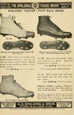 "SOCCER: Spalding's official ""soccer"" football guide - Spalding ""Soccer"" football shoes (1916)"
