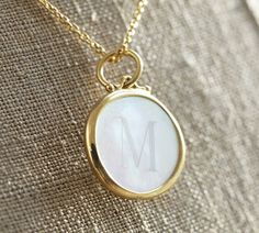 Pearl Medallion Necklace - Gold Vermeil | Pottery Barn- looks like it would become an heirloom.