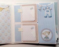 Mini Albums Scrap, Mini Scrapbook Albums, Scrapbook Cards, Scrapbook Bebe, Pregnancy Scrapbook, Bordado Popular, Baby Mini Album, Planner Book, Baby Memories