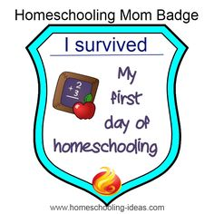 Can you claim this homeschool mom survival badge?