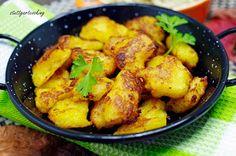 Kartoffel-Stierum und warmer Krautsalat mit Speck