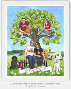 Thoughtful 25th anniversary gift for wife - YOUR own fully customized family tree painting that tells your unique life story. Each painting is created specifically for your family as an unforgettable gift your wife will treasure forever and pass on to the future generations of your descendants. Personalized family tree is more than just a gift. It's also an experience that brings your family together and becomes a future family heirloom. #custommadegifts #giftsforwife #anniversarygifts 25 Wedding Anniversary Gifts, 25th Anniversary, Family Tree Art, Personalised Family Tree, Parent Gifts, Descendants, Gift Ideas, Future, Unique