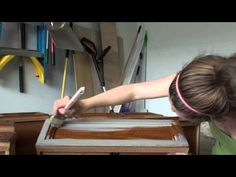 Pretty Distressed™ Annie Sloan Chalk Paint® Tutorial #1 - Prepping and Painting 1st Coat - YouTube