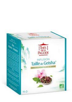Taille de Geisha 18 infusettes - L'infusion Taille de Geisha est une tisane bio aux vertus détox et minceur. Elle vous offre tous les bienfaits des feuilles du Mûrier Blanc du Japon et de l'Hibiscus. Cette très belle fleur confère à la tisane minceur Taille de Geisha® sa couleur rose et ses notes acidulées, ainsi que ses vertus drainantes et digestives. Le Pissenlit et la Bardane offrent quant à eux leurs vertus diurétiques. #infusion #herbaltea #bio #organic #minceur