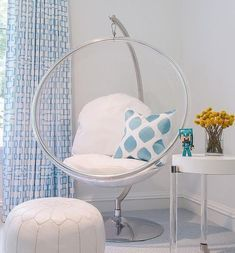 6 Cool Bedroom Chairs Design Ideas Bedroomchairs Chair Papasan Tween Girl Blue Decor