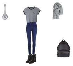 """""""Fall days in school"""" by abandele on Polyvore featuring River Island, Yves Saint Laurent, Beats by Dr. Dre and Calypso St. Barth"""