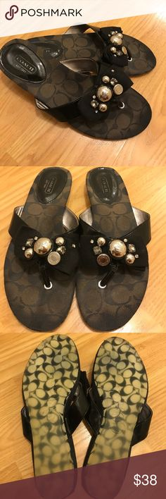 Coach Sandals Very cute and stylish coach sandals in good condition still have a lot of life left and look great on and very comfortable Coach Shoes Sandals