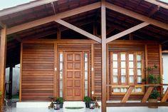 Casa pré-fabricada de madeira tem cara de chalé. Linda!