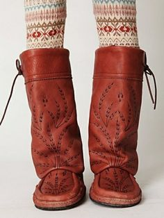 mocassin boots #freepeople