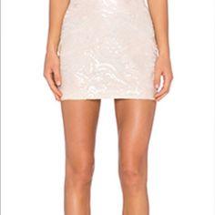 Endless Rose vegan leather skirt SZ small NWT Ivory laser cut floral skirt Endless Rose Skirts Mini