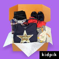 Head to toe preppy fashion! Fill out a style profile and let us deliver 2-3 full outfits including shoes and accessories straight to your door! Shipping, styling, and returns are all free. You only pay for what you keep! For girls size 4-14. www.kidpik.com