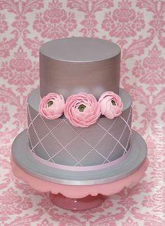Gray & Pink Cake