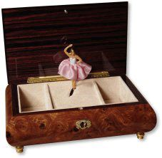 VINTAGE REUGE MUSIC JEWELLERY BOX WITH BALLROOM DANCING COUPLE