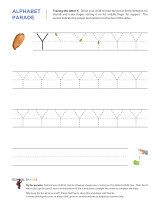 Uppercase Y letter tracing worksheet, with easy-to-follow arrows showing the proper formation of the letter.