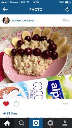 My breakfast! Oat boiled in plant milk - coconut milk!