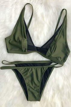 a3b03ac45ed68 Cupshe Step by Step Mesh Splicing Bikini Set Swimming Costume