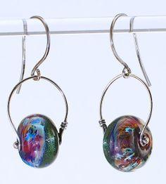 Lampwork Jewelry on Pinterest   Glass Earrings, Sterling Silver ...