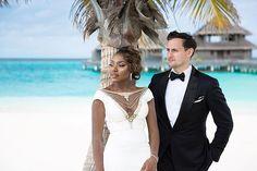 Mr & Mrs Chuter ❤ Gorgeous interracial couple wedding photography in the Maldives #love #wmbw #bwwm #swirl