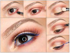 KIKO Water Eyeshadows Makeup Tutorial,