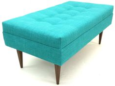 """Hand-Crafted by Us! Atomic Chair Company 40"""" Judy Ottoman $450  40""""L x 22""""W  Customize Height 14""""-18"""" Tall"""