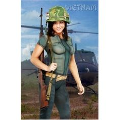 Vietnam Military History Pin up Body Paint Poster (Tribute Body Painting) (Unknown Binding)