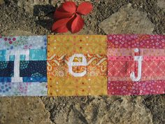 paper pieced letters