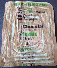 Frans broodzakje op papier