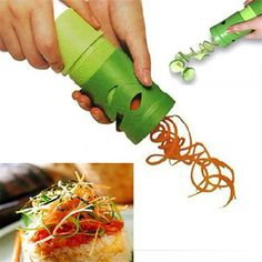 Kitchen Vegetable Fruit tools Spiral Cutter Slicer Peele Shred Process Device Cooking Utensil C