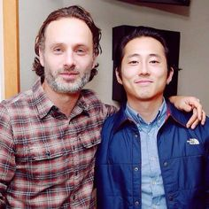 Andrew Lincoln et Steven Yeun à Sirius Radio [Photo du jour]
