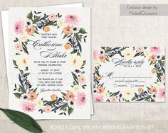 Image result for Beautiful invitation set  roses