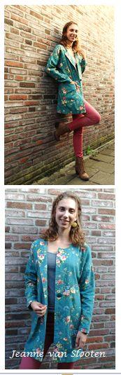 bloemen jas, vintage look - Jeanne van Slooten