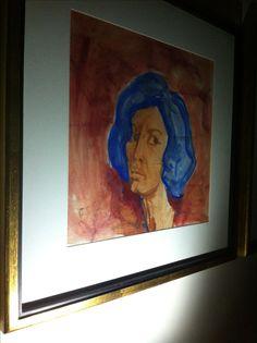 #IranianPainters Forough By Forough Farrokhzad Genre: Portrait Medium: Watercolor on Paper Dimensions: 45*44 cm Location: White Line Gallery, Tehran, Iran CopyRight: Fair Use فروغ از فروغ فرخزاد ژانر: پرتره تكنيك: آبرنگ روي كاغذ اندازه اثر: ٤٤*٤٥ سانتيمتر محل نگهداري اثر: گالري خط سفيد، تهران، ايران حق تكثير: استفاده منصفانه