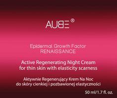 Aube, Epidermal Growth Factor Renaissance, regenerujący krem na noc do skóry cienkiej i pozbawionej elastyczności, 50 ml, nr kat. 238883