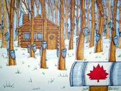 My Canada Sugar Shack ~ cabane à sucre by Su Bee Buzz!, via Flickr Quilts Canada, Sugar Bush, Canadian Culture, Bee Boxes, Canadian Maple, Building Art, Military Art, Classroom Themes, Art Plastique
