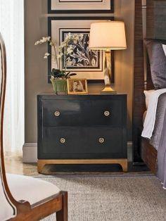 Side table, artwork, bed ▇ #Home #Design #Decor via IrvineHomeBlog - Christina Khandan - Irvine, California ༺ ℭƘ ༻