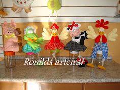 em Tecidos e Feltros ** Criando Arts Ro *** Crochê & Artes
