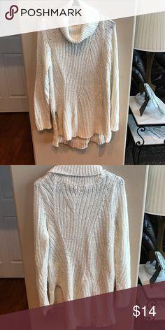 Cream colored sweater tunic dress