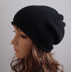Knit Womens Hat Slouch Beanie Handmade Slouchy Hat by kristine1986, $22.00