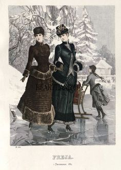 Category:Images from Nordiska museet/Fashion plates - Wikimedia Commons 1880s Fashion, Victorian Fashion, Vintage Fashion, Ladies Fashion, Gothic Fashion, Victorian Costume, Victorian Era, Retro Mode, 19th Century Fashion