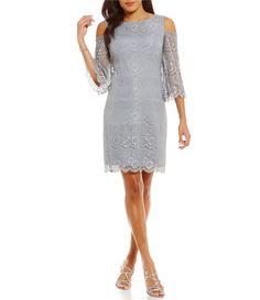 77b4f72a71c Jessica Howard Cold-Shoulder Lace Shift Dress