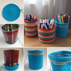 Crochet Box, Thread Crochet, Crochet Gifts, Cute Crochet, Crochet Flowers, Cath Kidston Crochet, Crochet Table Runner, Church Crafts, Recycle Plastic Bottles