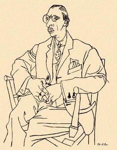 Portrait of Igor Stravinsky by Pablo Picasso