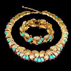 Boucher Necklace and Bracelet Set - $985.