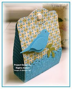 two tags - a possible earring holder for a gift of earrings you have made.  Place earrings inside.