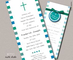 Baptism & First Communion Invitation by whitefield2 on Etsy, $3.75
