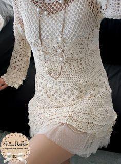 Crochet dress - detailed pattern in English.