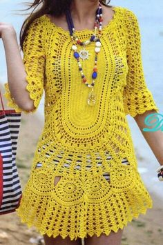 Irish lace, crochet, crochet patterns, clothing and decorations for the house, crocheted. Mode Crochet, Crochet Tunic, Irish Crochet, Diy Crochet, Crochet Clothes, Crochet Top, Crochet Dresses, Crochet Baby, Beach Crochet